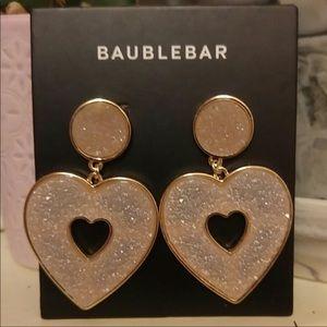 BaubleBar Pink Blush Druzy Stone Earrings